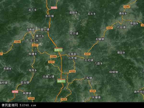 县地图 定南县卫星地图 定南县高清航拍地图 定南县高清卫星地图 定图片