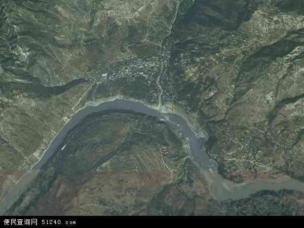 中国四川省凉山彝族自治州金阳县对坪镇地图