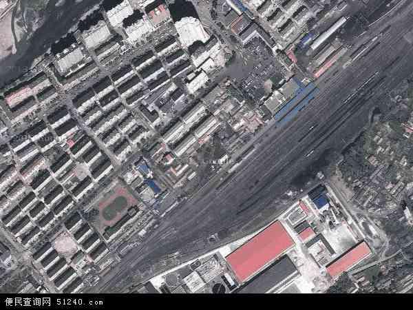 中国吉林省白山市浑江区东兴地图(卫星地图)