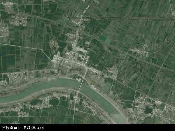 中国安徽省蚌埠市怀远县淝南乡地图(卫星地图)