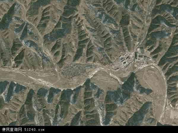 中国陕西省延安市宝塔区甘谷驿镇地图(卫星地图)
