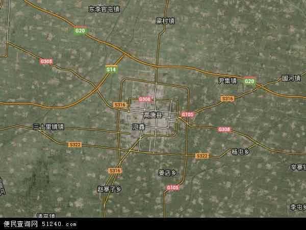 中国山东省聊城市高唐县地图(卫星地图)