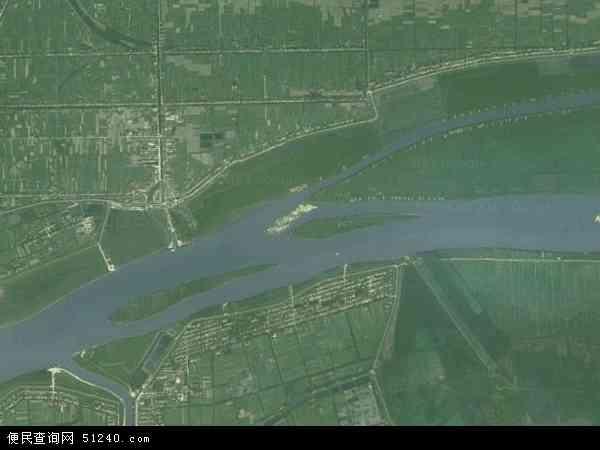 中国湖南省益阳市沅江市共华镇地图(卫星地图)
