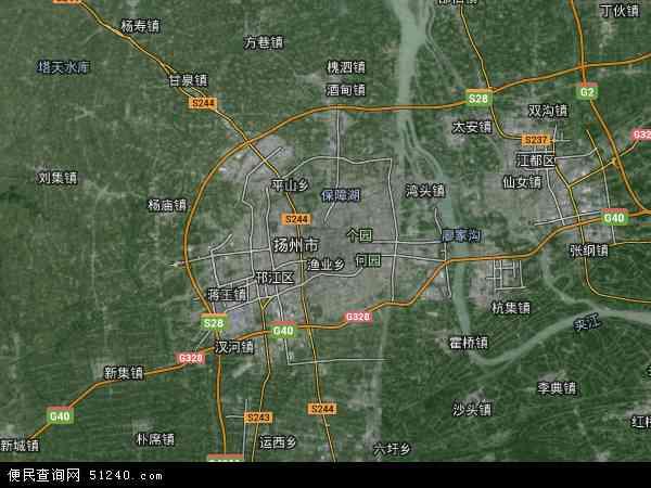 广陵区地图 - 广陵区卫星地图