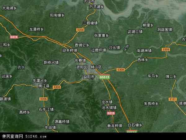 赫山区高清卫星地图 赫山区2017年卫星地图 中国湖南省益阳市赫山