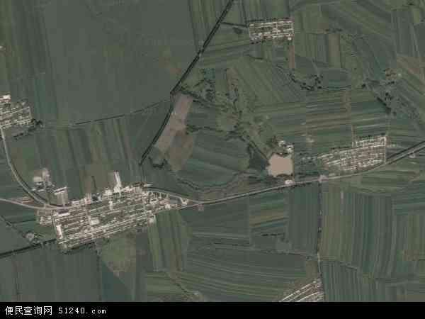 中国黑龙江省绥化市海伦市海南乡地图(卫星地图)