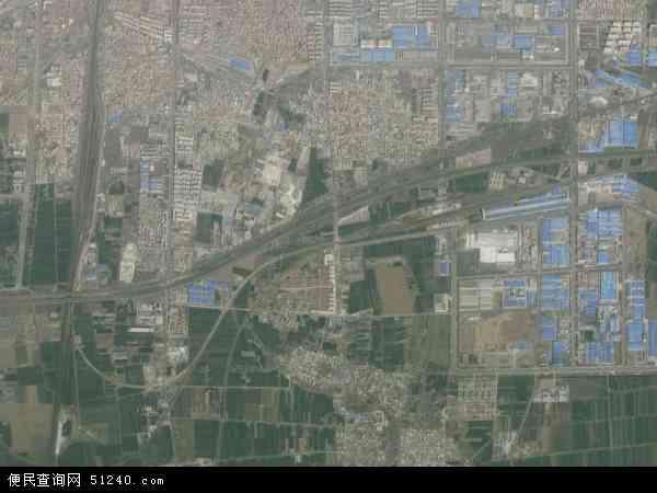 中国河南省漯河市召陵区后谢乡地图(卫星地图)