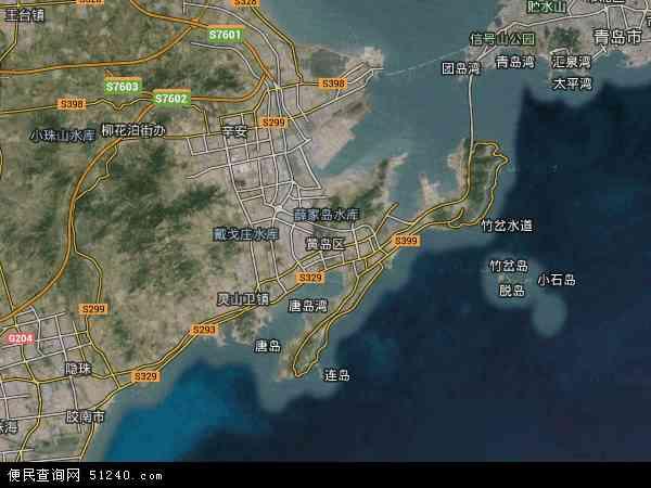 青岛黄岛地图_海青镇地图 - 海青镇卫星地图 - 海青镇高清航拍地图