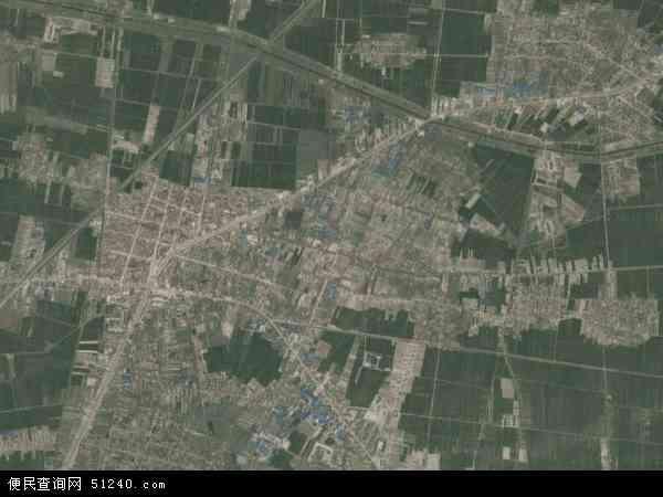 中国山东省菏泽市郓城县黄安镇地图(卫星地图)