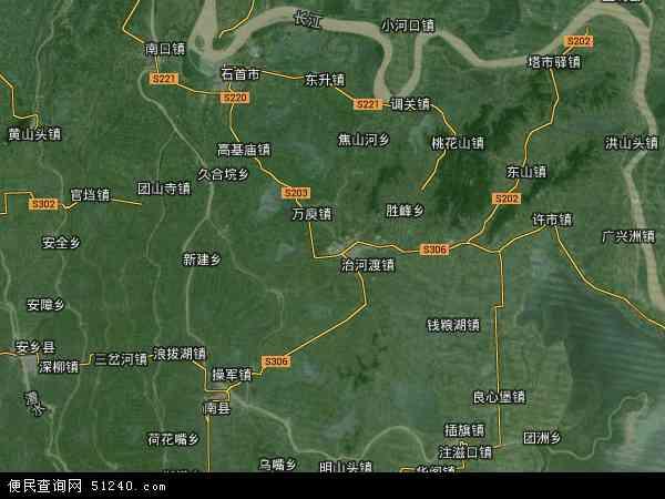 华容县高清卫星地图 华容县2016年卫星地图 中国湖南省岳阳市华容