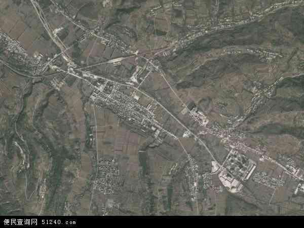 中国陕西省西安市蓝田县焦岱镇地图(卫星地图)