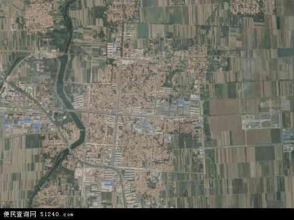 中国山东省潍坊市安丘市景芝镇地图(卫星地图)