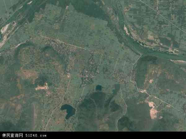 中国陕西省汉中市勉县金泉镇地图(卫星地图)图片