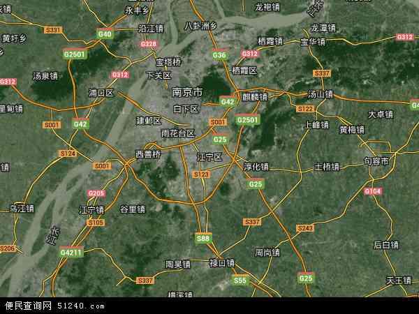 江宁区地图 - 江宁区卫星地图