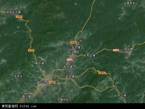 江源区地图 - 江源区卫星地图