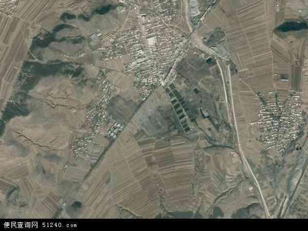 中国辽宁省朝阳市建平县喀喇沁镇地图(卫星地图)