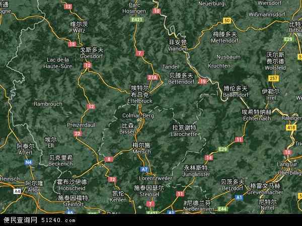 卢森堡卫星地图 - 卢森堡高清卫星地图 - 卢森堡高清航拍地图 - 2016年卢森堡高清卫星地图