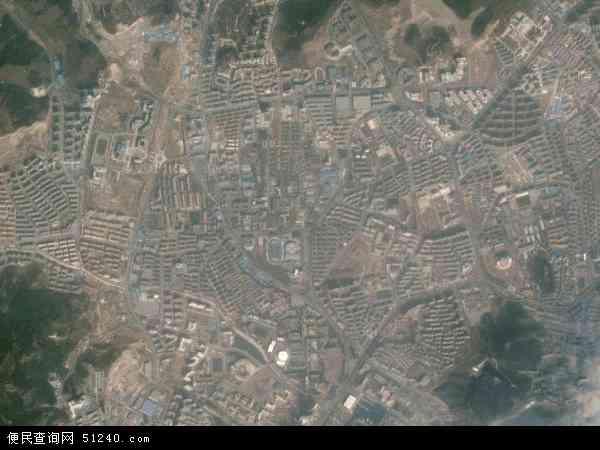 中国辽宁省大连市甘井子区凌水地图(卫星地图)