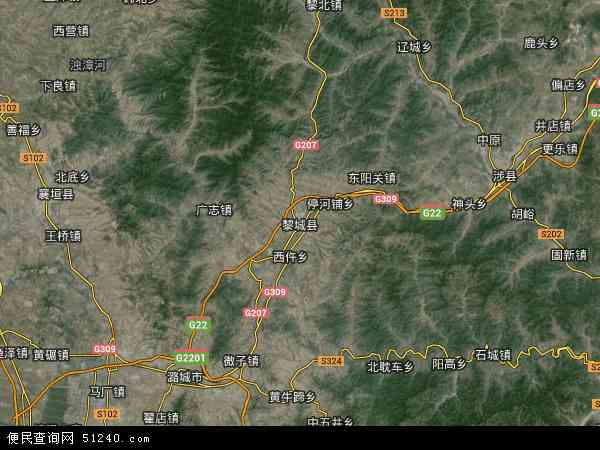 黎城县地图 - 黎城县卫星地图