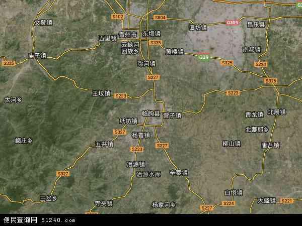 临朐县卫星地图 - 临朐县高清卫星地图 - 临朐县高清航拍地图 - 2018