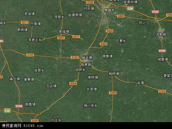 中国安徽省阜阳市临泉县地图(卫星地图)