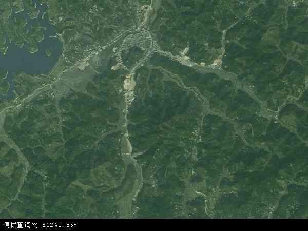 中国广西壮族自治区贵港市平南县六陈镇地图(卫星地图)图片
