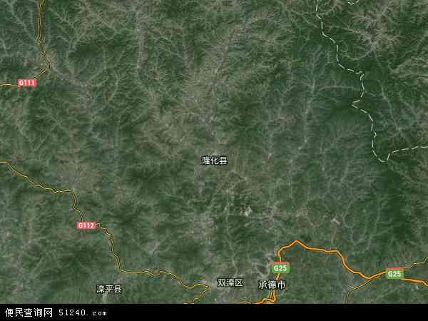 隆化县地图 - 隆化县卫星地图