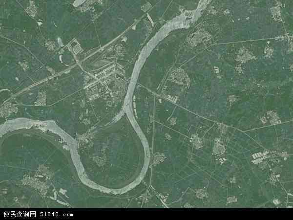 中国江西省新余市渝水区罗坊镇地图(卫星地图)