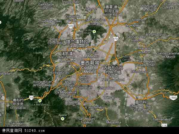 墨西哥城电子地图_墨西哥城地图 - 墨西哥城卫星地图 - 墨西哥城高清航拍地图