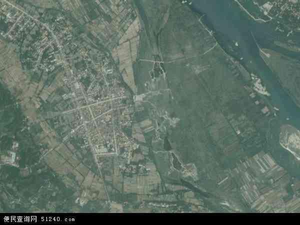 中国湖北省襄阳市谷城县庙滩镇地图(卫星地图)