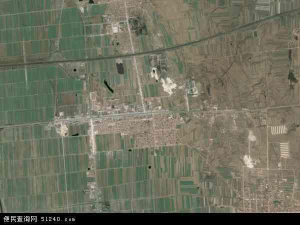 中国山东省青岛市平度市明村镇地图(卫星地图)