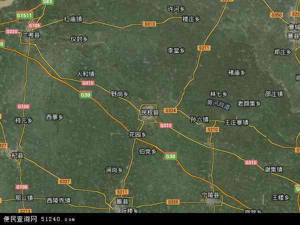 民权县地图 - 民权县卫星地图