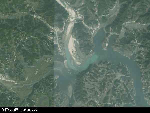 中国安徽省安庆市太湖县牛镇镇地图(卫星地图)