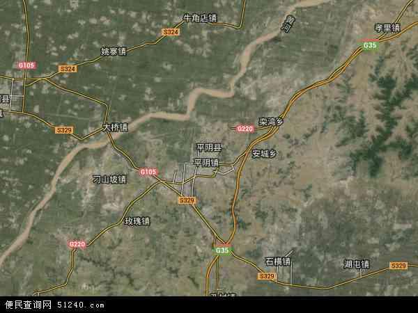 平阴县高清卫星地图 平阴县2016年卫星地图 中国山东省济南市平阴