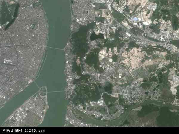 中国广东省潮州市湘桥区桥东地图(卫星地图)
