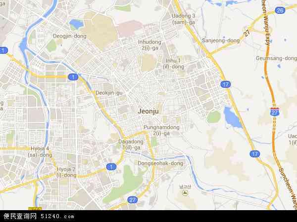 全州市地图 - 全州市卫星地图