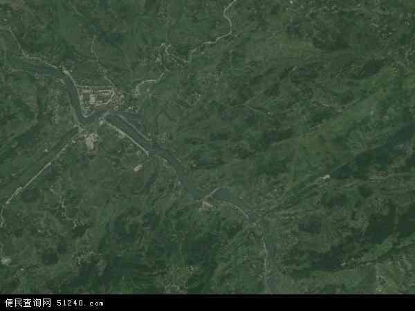 中国重庆市忠县汝溪镇地图(卫星地图)