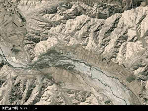 中国青海省海西蒙古族藏族自治州都兰县热水乡地图(卫星地图)