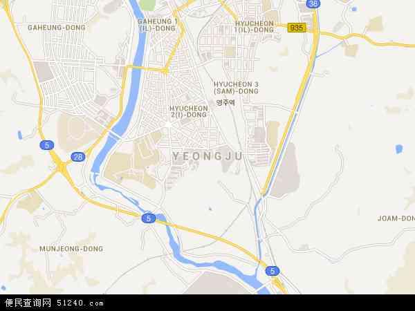 州市哹n�c9.&�ki��(_韩国庆尚北道荣州市地图(卫星地图)