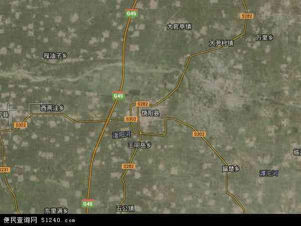 中国河北省衡水市饶阳县地图(卫星地图)图片