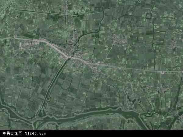 中国安徽省芜湖市无为县蜀山镇地图(卫星地图)