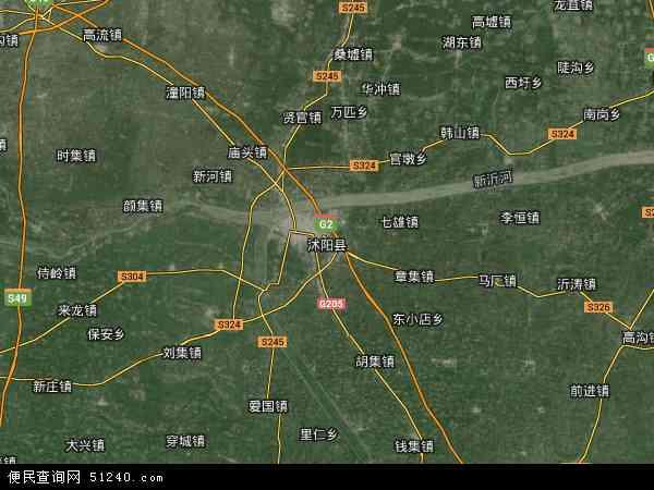 沭阳县高清航拍地图