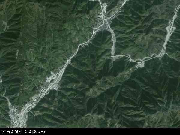 中国安徽省黄山市黄山区汤口镇地图(卫星地图)