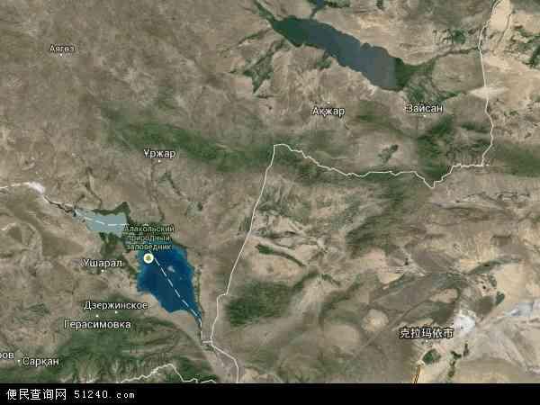 塔城地区地图 - 塔城地区卫星地图