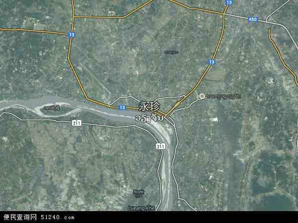 老挝万象地图(卫星地图)