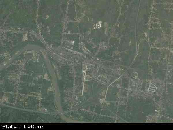 中国陕西省安康市汉滨区五里镇地图(卫星地图)