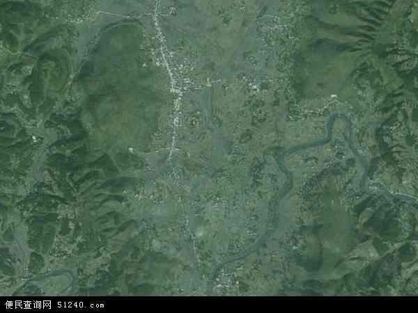 中国贵州省遵义市绥阳县旺草镇地图(卫星地图)