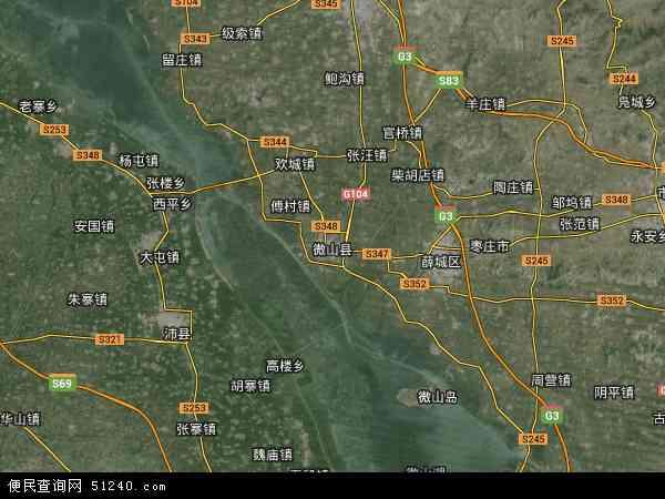 微山县行政地图_济宁市微山县欢城镇行政地图