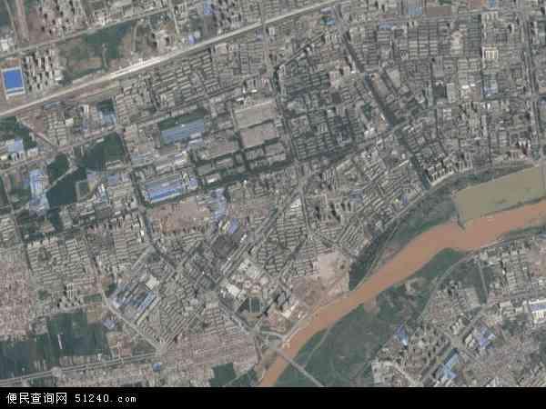 中国陕西省咸阳市秦都区渭阳西路地图(卫星地图)