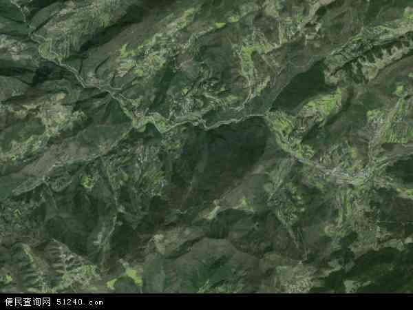 中国四川省广元市朝天区小安乡地图(卫星地图)